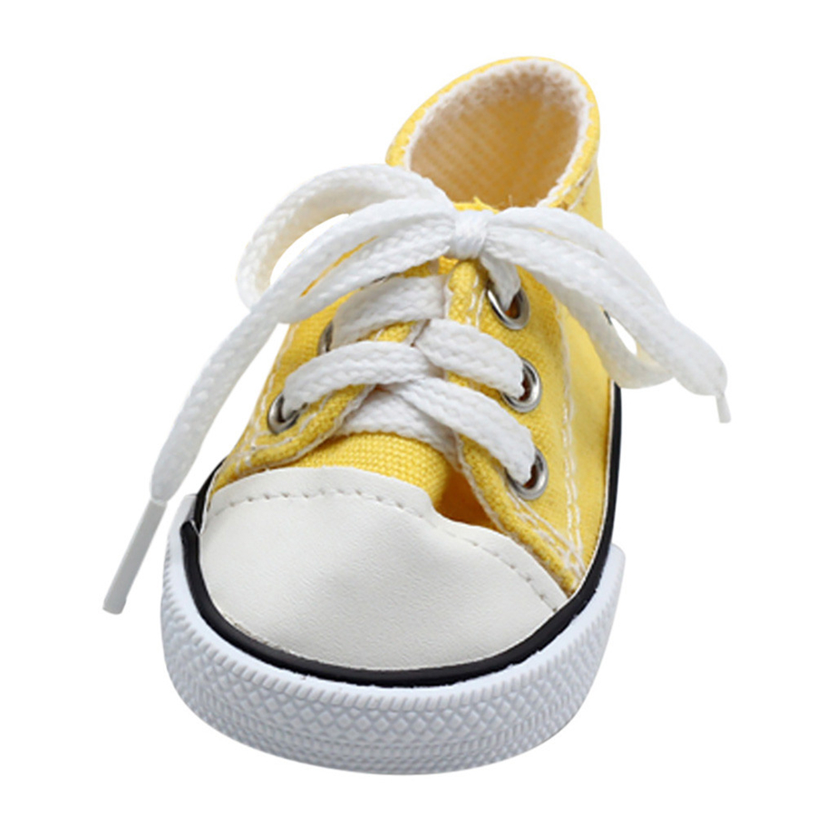 1pair 7 3 6cm Doll Shoes For United States Girl Fits 18 inch Dolls Baby Doll Sport Shoes For Girls Best Gifts Dolls Accessories in Dolls Accessories from Toys Hobbies