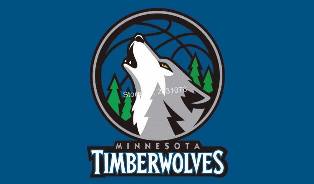 <font><b>Minnesota</b></font> <font><b>Timberwolves</b></font> Flag 3x5 FT 150X90CM <font><b>Banner</b></font> 100D Polyester NBA flag