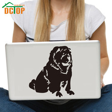 DCTOP Cute Dog Vinyl Art Laptop Stickers Waterproof Wall Stickers Home Decor Removable Self Adhesive Wallpaper цена