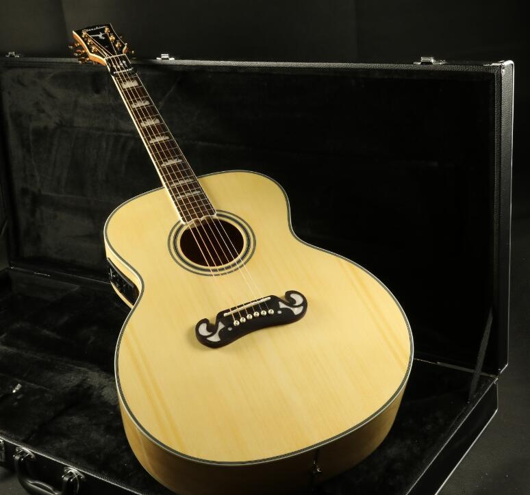 Top qualité CJ200A 43''Jumbo guitare acoustique électrique Fishman EQ acajou cou Grover accordeur