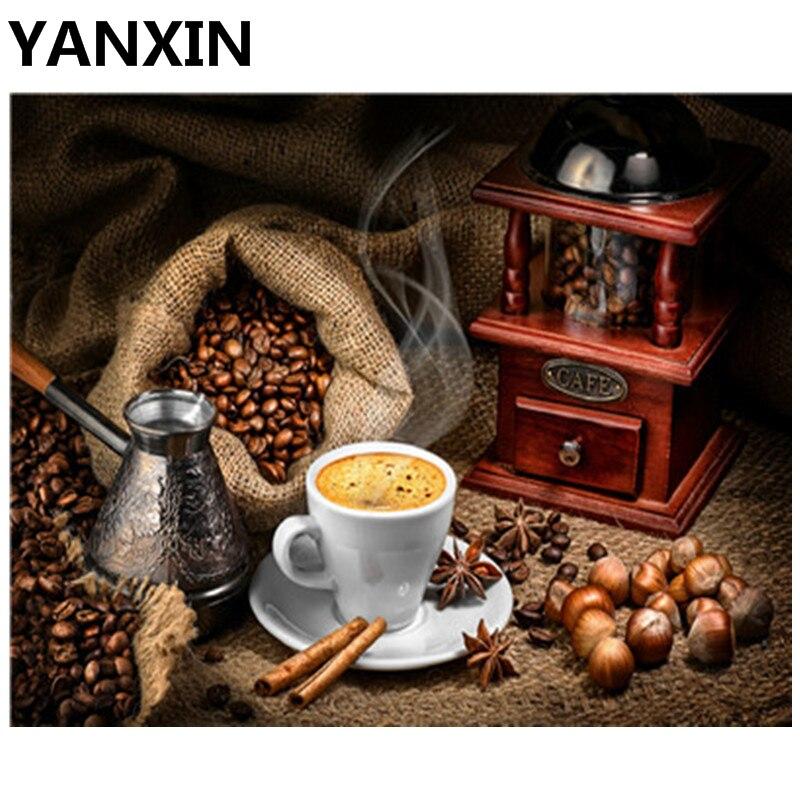 YANXIN DIY ממוסגר ציור שמן צבע קיר אמנות תמונות דקור עבור עיצוב הבית 5729