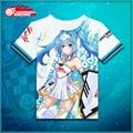 Vocaloid Anime Hatsune Miku T-shirt Fashion Polyester T Shirt Summer Active Otaku Men Women Clothes