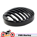 """CNC Motorcycle 6.5"""" Headlight Grille Cover Black Head Lamp Grill Bezel For Harley Sportster XL883 XL1200 2004-2014"""