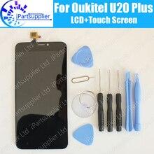 Oukitel U20 Plus LCD Display Touch Screen 100% Original LCD Digitizer Glass Panel Replacement For Oukitel U20 Plus tool adhesive