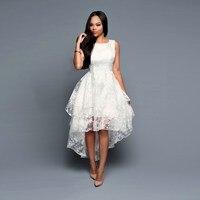 5XL Plus Size Summer High Low Vintage Retro Dress Women Sleeveless Long Lace Organza Dress Asymmetric Elegant Party dress