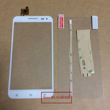 "100% New White 5.5"" Outer Glass Panel Lens Touch Screen Digitizer For ZOPO ZP999 With Protector film Free shipping"
