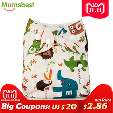 Mumsbest 2018 Washable Baby Cloth Diaper pocket Waterproof Cartoon Owl Baby Diapers Reusable Cloth Nappy
