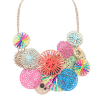 Cute Multicolored Medallion Necklace Ladies Chains Jewelry Hippie His And Her Necklaces Hip Hop Jewellery Hot