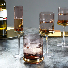 Nordic wine glass Electroplating lead-free crystal goblet  cup champagne whiskey bar party drinkware