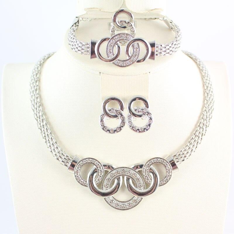 a3909666928c ツ)  ¯Envío libre de plata cristalino chunky joyería de moda