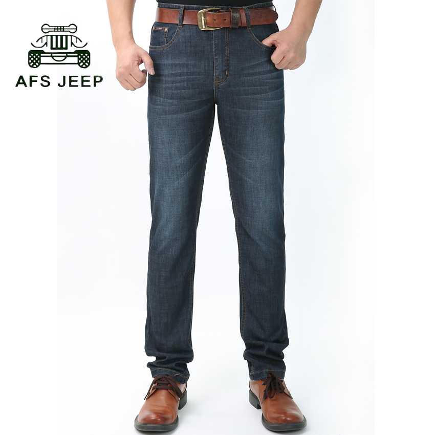2017 AFS JEEP brand Men Jeans Classic Men s Clothing Casual Denim trousers Men Regular