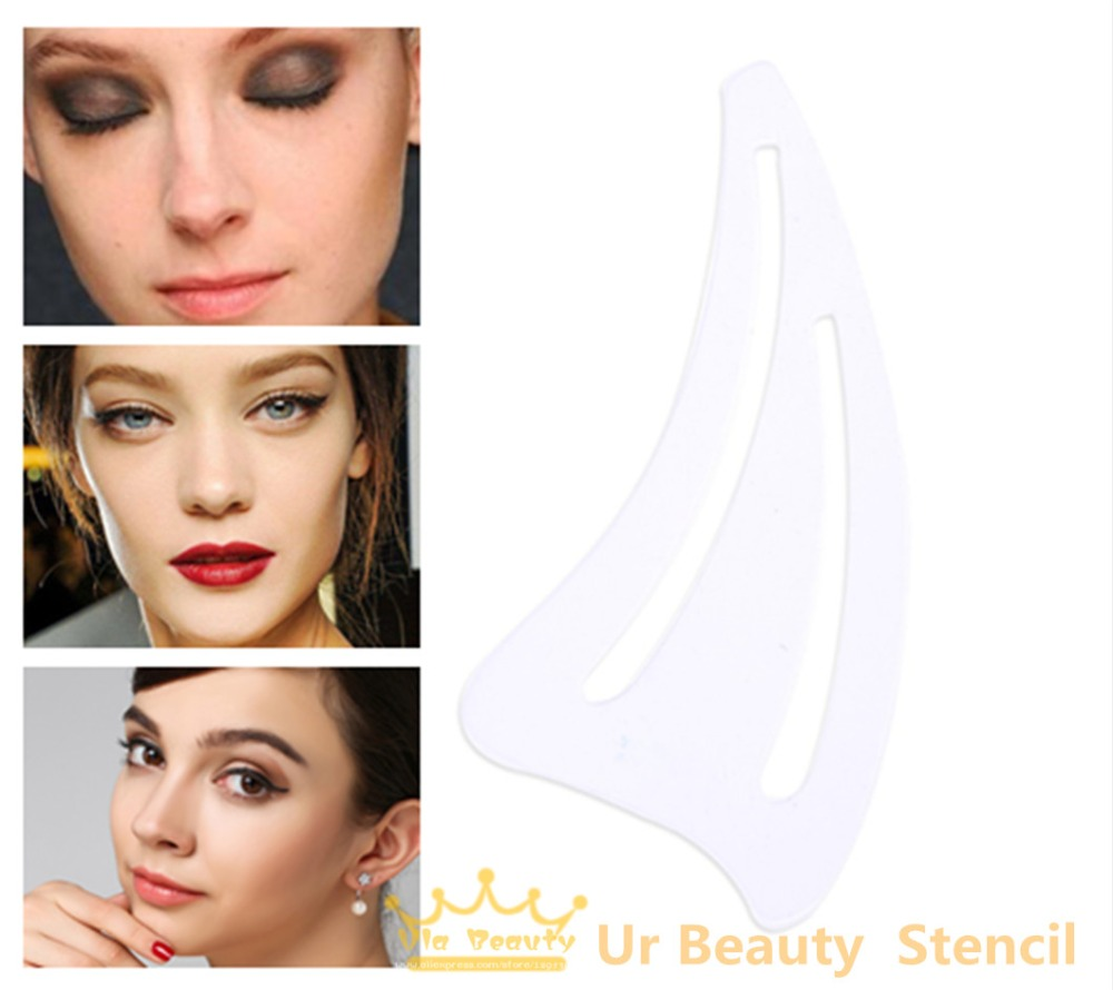 1pack Multifunction Face Makeup Stencil Eyerow Template Card Cat Eye
