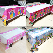 108cm*180cm Princess Table Cloth Kid Birthday Party Supplies Sofia Disposable Tablecloth Mermaid Decoration Favor