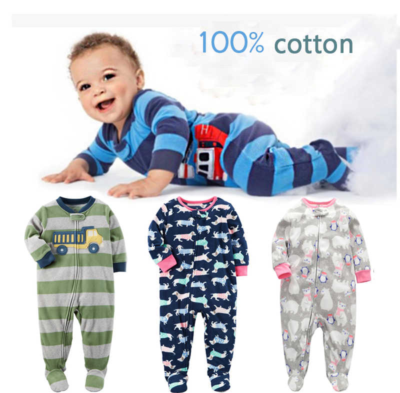 53af7b26966f2 New Newborn Boy Clothes for babies Toddlers Long Sleeve Floral Print ...