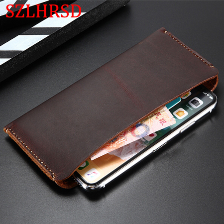 <font><b>Genuine</b></font> <font><b>Leather</b></font> NOTE8 Wallet <font><b>Case</b></font> For <font><b>iPhone</b></font> <font><b>5S</b></font> SE XR XS MAX 6S 7 8Plus For Samsung Galaxy Note 9 S8 S9 Plus Pouch <font><b>Cases</b></font> bag image