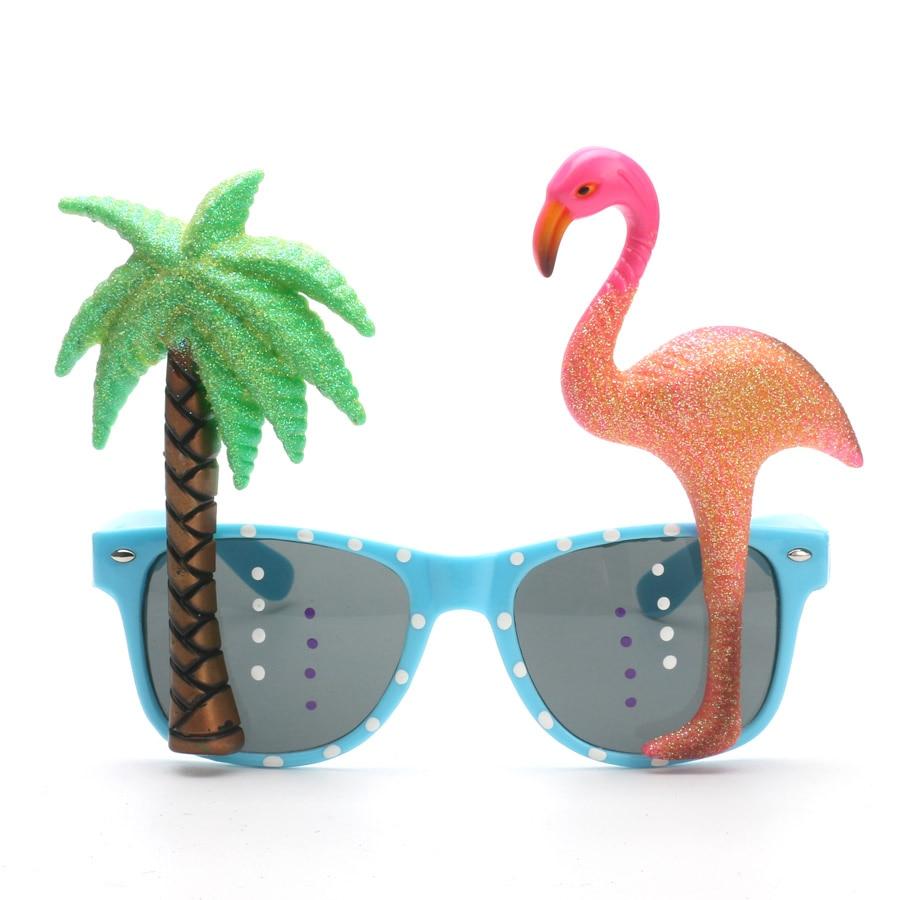 Komik Dekoratif Flamingo Plaj Partisi Miami Stil Kostümleri Güneş - Tatiller ve Partiler Için - Fotoğraf 6