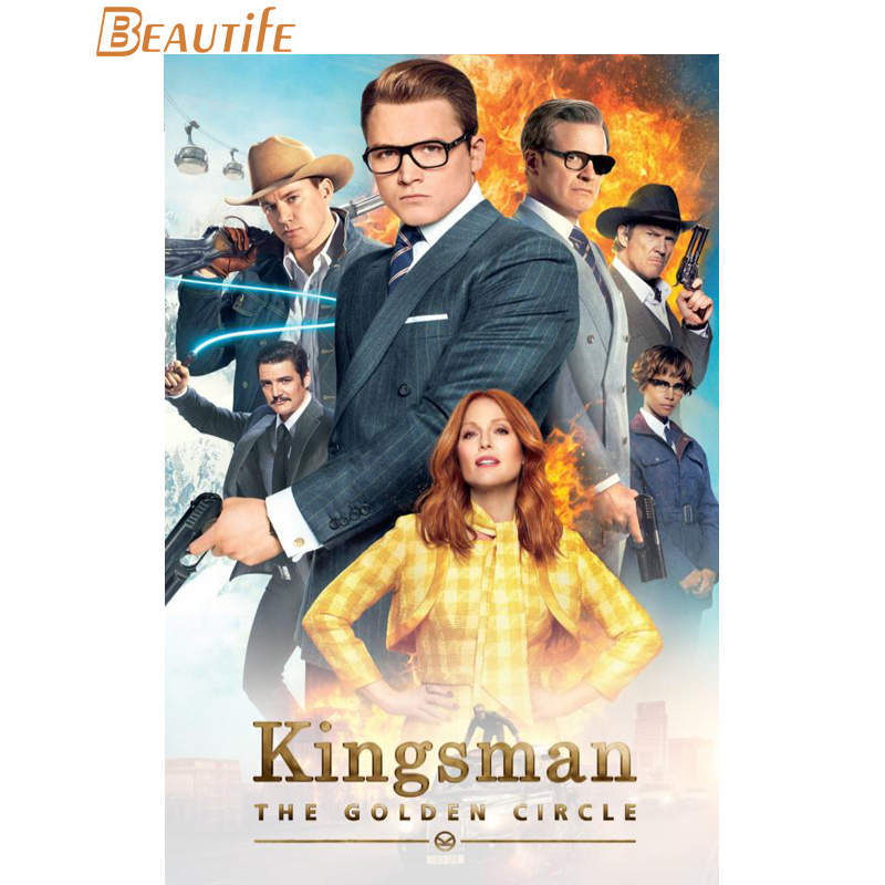 Hot Sale Kustom Kingsman The Golden Circle 2017 Poster Home Dekorasi Fashion Kain Sutra Poster Dinding Kustom Poster Painting Calligraphy Aliexpress
