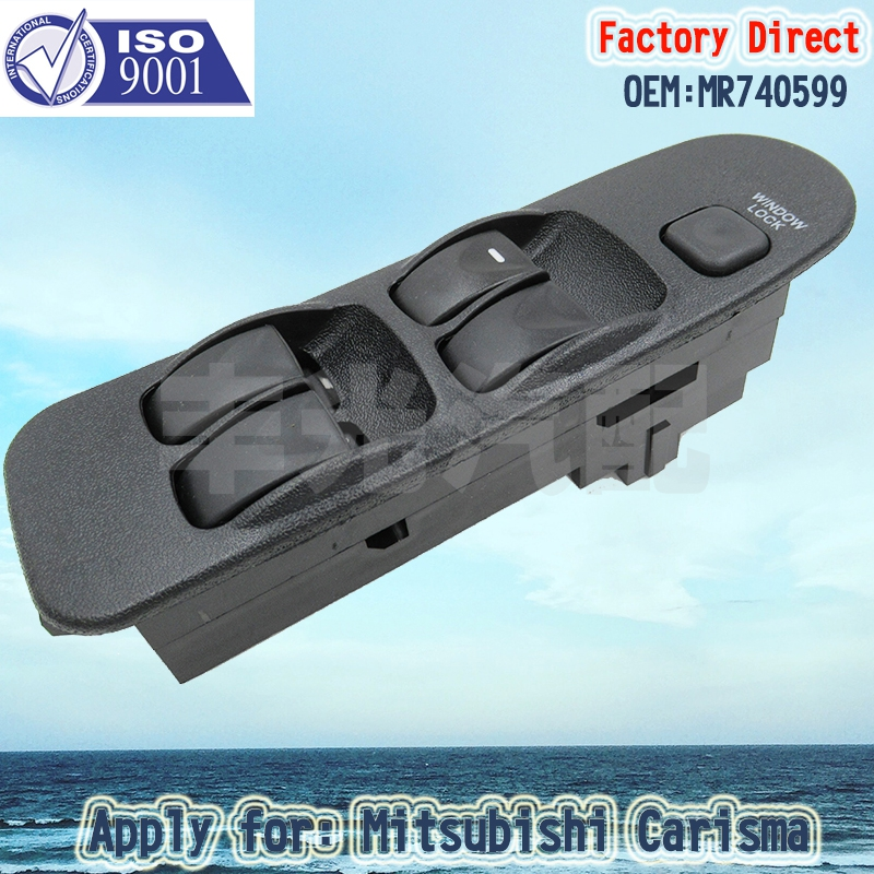 Factory Direct MR740599 Auto Power Window Lifter Switch Driver Side LHD Apply for MITSUBISHI CARISMA 95-06 18Pins