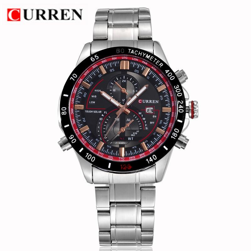 CURREN Mens Watches Top Brand Luxury Waterproof Analog Display Date Sport Quartz Watch Military Wristwatches Relogio Masculino - Wemwatch Store store