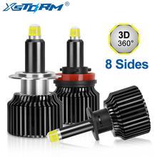 2Pcs H1 H7 Led Canbus H8 H11 HB3 9005 HB4 9006 Led פנסים נורות 8 צדדים 60W 15000LM רכב אור אוטומטי מנורת רכב