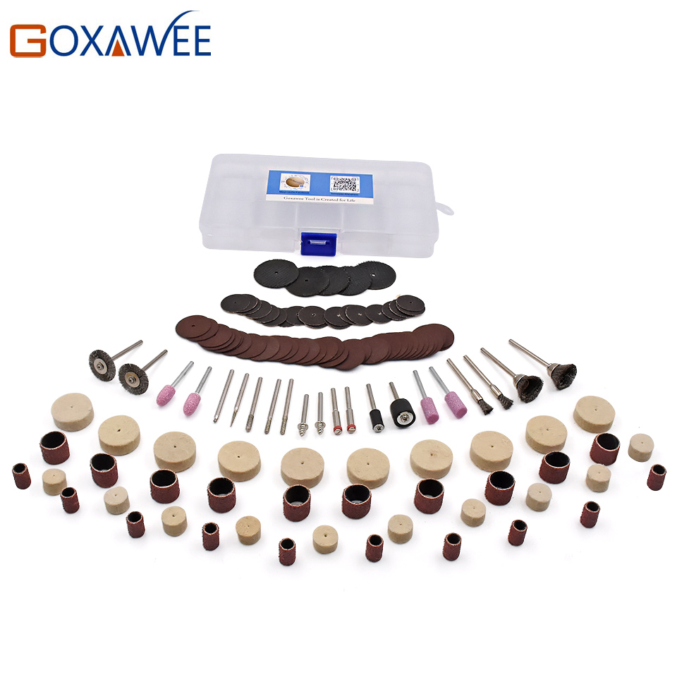 GOXAWEE 123Pcs Wood Metal Engraving Electric Rotary Tool Accessories for Dremel Bit Set Grinding Polish Cutting Cut for Dremel