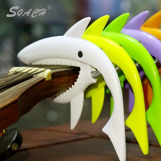 SOACH Новый пластик личность держатель струн в форме акулы несколько вариантов цвета Гавайские гитары укулеле гитары и аксессуары