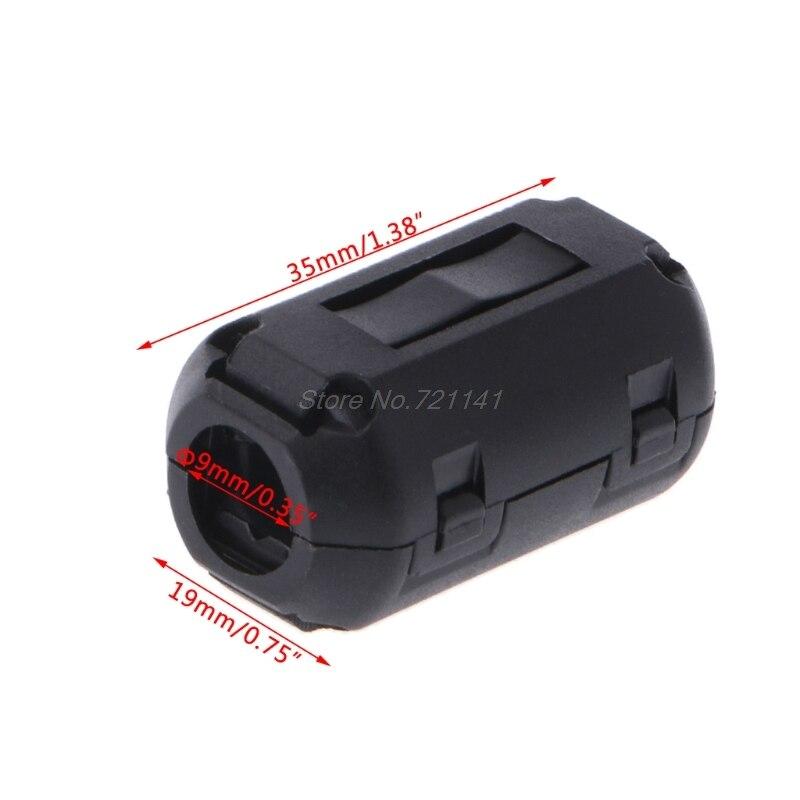 Черный зажим ферритовый кольцевой сердечник, производство Китай RFI EMI Шум подавитель кабельный зажим для 3,5/5/7/9/13 мм кабель Мощность кабели; Прямая поставка