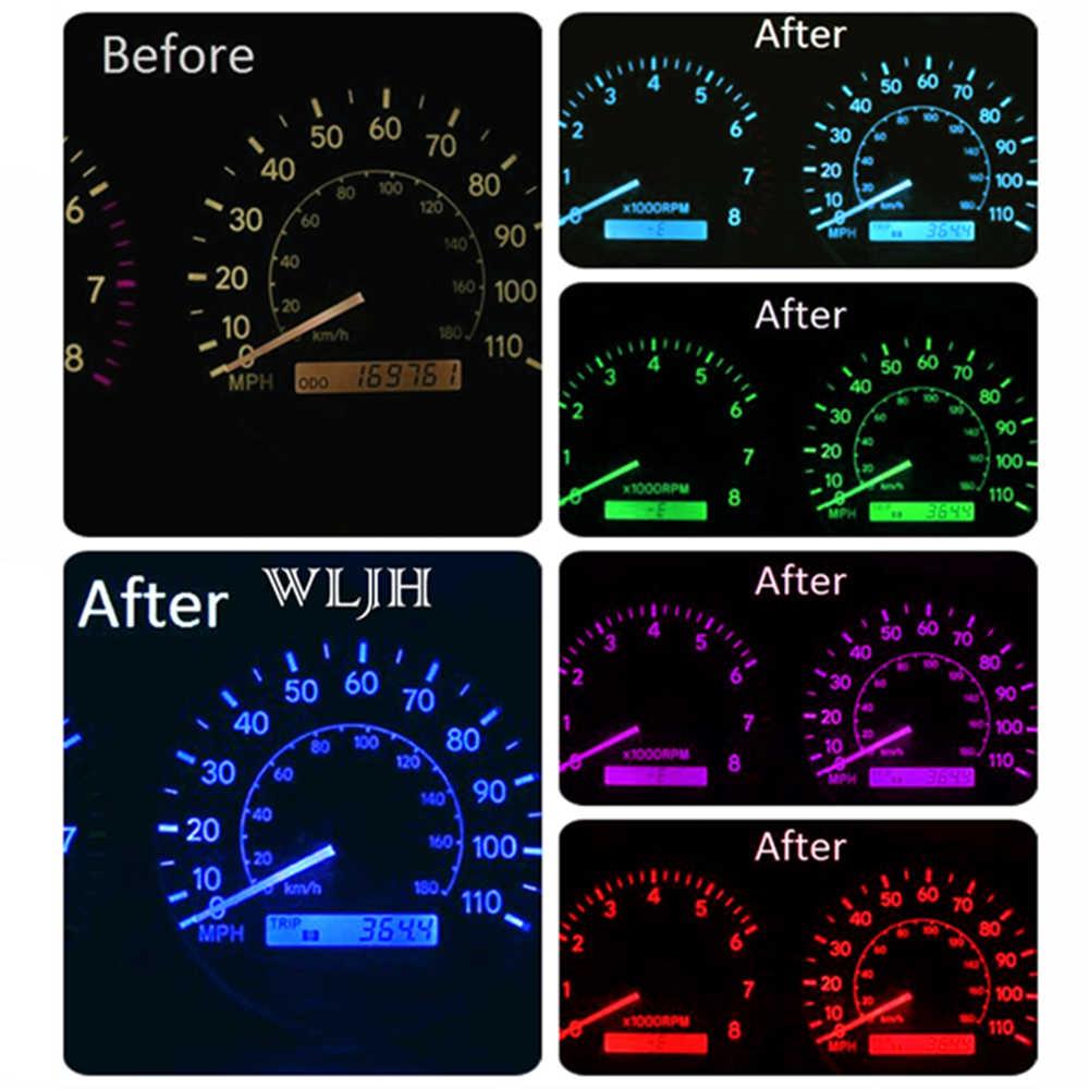 Wljh Led Car Dashboard Sdometer Odometer Gauge Instrument Cer Light Bulbs Kit For Toyota Corolla 1998
