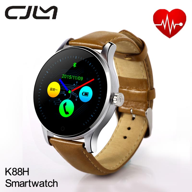 Smart Watch K88H Smartwatch Heart Rate Monitor Round Montre Connecter Bluetooth Wearable Devices For Android Apple Huawei IOS 4pcs black led front fender flares turn signal light car led side marker lamp for jeep wrangler jk 2007 2015 amber accessories