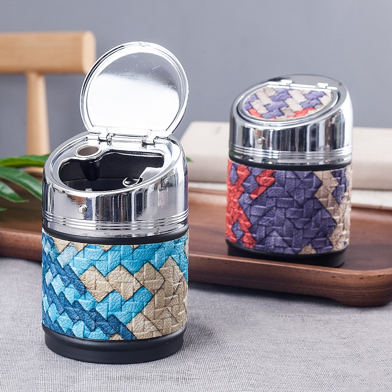 Car Interior Accessories Creative Ashtray with Cover Great Gift for Boyfriend Men-in Car Ashtray