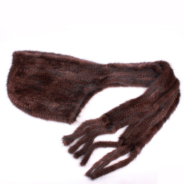 Winter Thermal Mink Fur Hat Scarf Women Mink Cap Knitted Hat Scarf One Piece Warm Muffler For Women