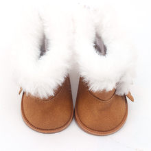1 Pair Plush Doll Winter Snow Boots For 43cm Baby Born Doll And 18 Inch Doll Mini Shoes For Christmas Gift #40(China)