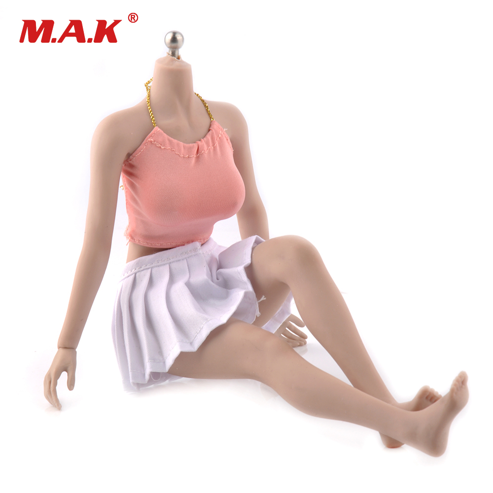 1/6 Scale Female Body Figure Super Flexible Seamless Body Suntan Color Large Breast Action Figure DIY Doll Toys 1 6 scale figure accessories doll body for 12 action figure doll super flexible female body in pink or tan skin