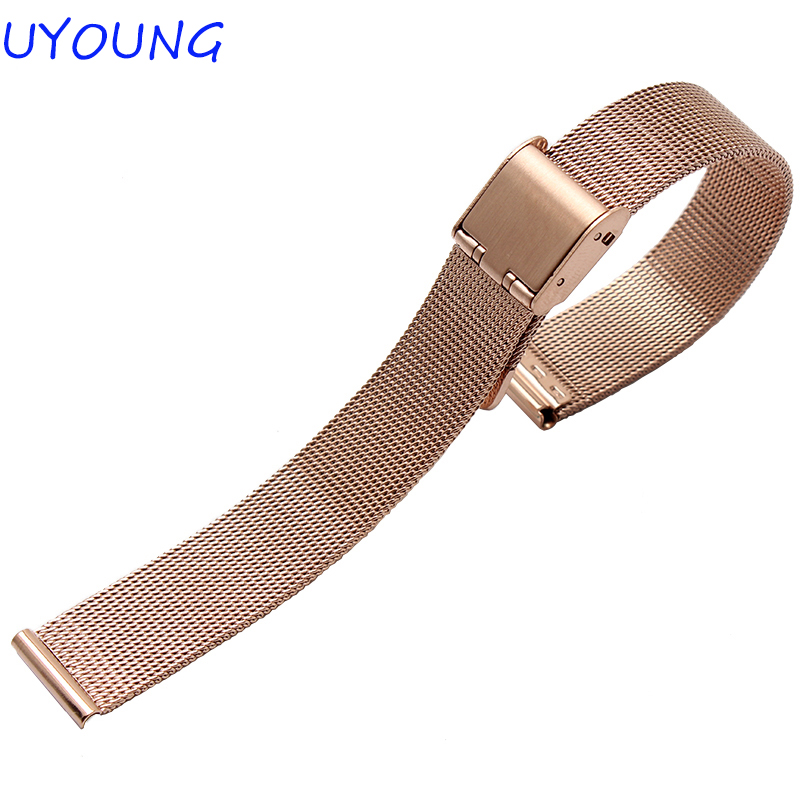 For Pebble Time Round Smart Watch Milanese Strap High Quality Stainless Steel Watchband 14mm 20mm Men Women For Pebble