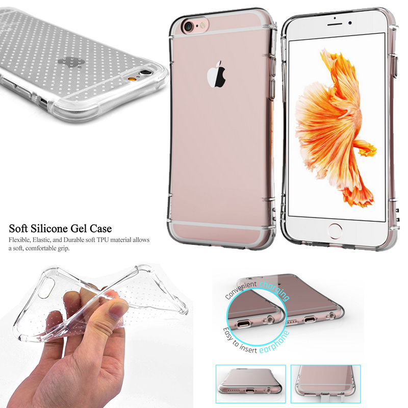 Soft Flexible Gasbag Design Clear Silicone Case For Capinhas Iphone