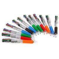 5แพ็ค12X0.7มิลลิเมตร4สีหลายปากกาลูกลื่นปากกาเขียนโรงเรียนสำนักงาน
