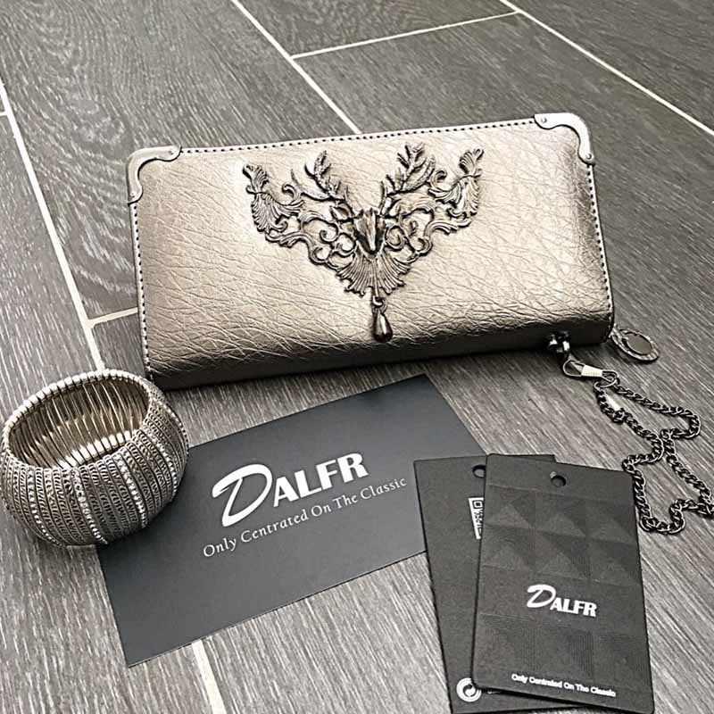DALFR PU Portefeuille En Cuir Femmes Sacs À Main En Cuir Dames Designer Embrayages Sac Femmes Sacs À Main De Luxe Femmes Sacs Designer