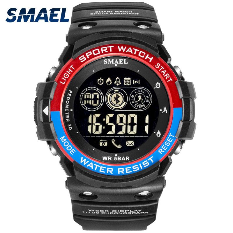 Smart Watch SMAEL Digital Sport Wristwatches Bluetooth Link Men's Watch Call Reminder Waterproof Clock Electronic Watches Led