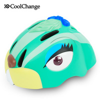 CoolChange Cycling Helmet For Child Cartoon Rabbit MTB Road Bike Helmet Safety Kids Toddler Pulley Boys Grils Bicycle Helmets