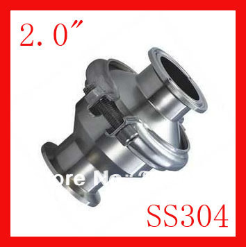 New arrival 2.0 SS304 Stainless steel  non return valve TC clamp,Manual check valve 1pc 63mm od sanitary check valve tri clamp type stainless steel ss sus 304
