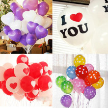 10pcs/Lot 12 Inch Thickening Latex Wedding Balloon I LOVE YOU Multicolor Round Latex Balloons Valentine's Day Decorations