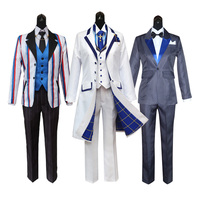 Fate Grand Orde FGO Saber King Arthur Pendragon Uniform Outfit Set Cosplay Costume White Valentine's Day King of Knights Men