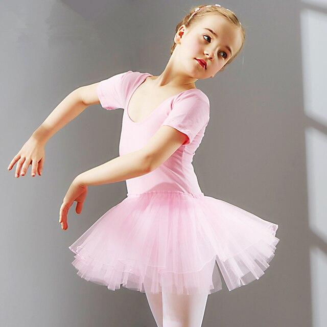 Nouvelle Belle Enfant Rose Ballet Justaucorps Tutu 09f73bbc6ef