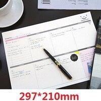 Hot selling 297 * 210mm. retail grote deal. nieuwe collectie fashion leuke Korea Mode A4 Dagelijkse Desk opmerking pad. notitie. Note pads Memo