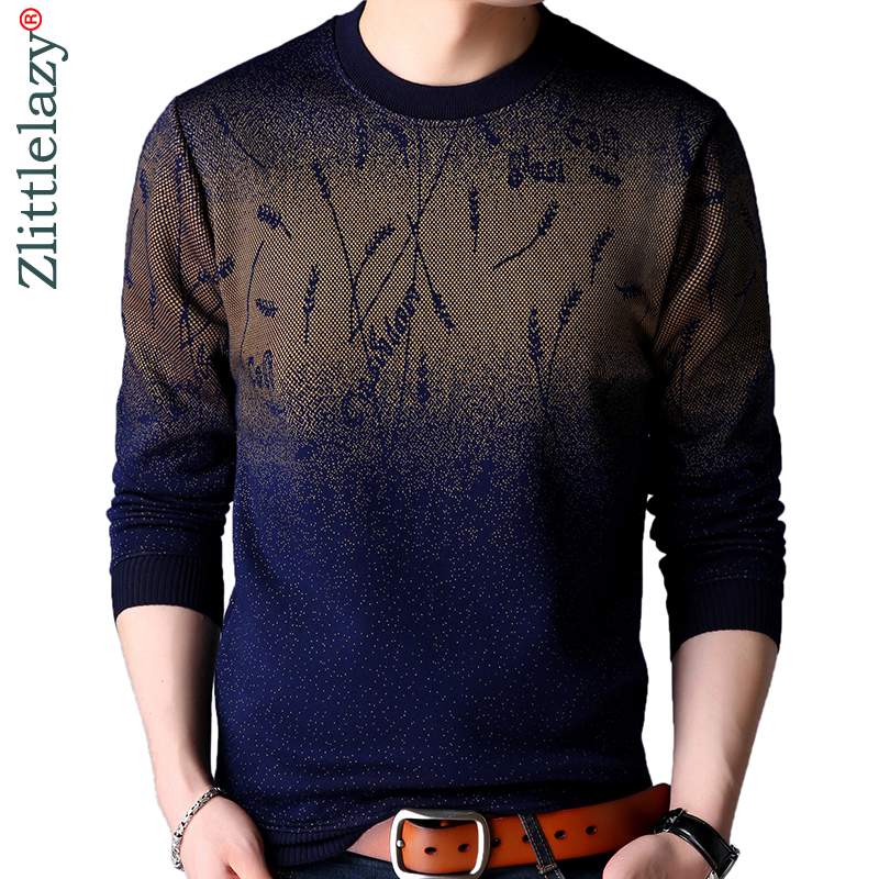 2019 Brand Casual Autumn Winter Warm Pullover Knitted Ear Of Wheat Male Sweater Men Dress Thick Mens Sweaters Jersey Clothing