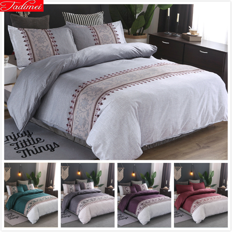 Luxury Europe High Quality Soft Cotton Bedding Set Adult Kids Bed Linen Single Queen King Big Size Duvet Cover Quilt Pillow Case