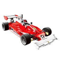 Compatible legoinglys Technic The Red Power Racing Car Set Model 2405pcs Building Blocks Funny Toys Kids For Boy Gift