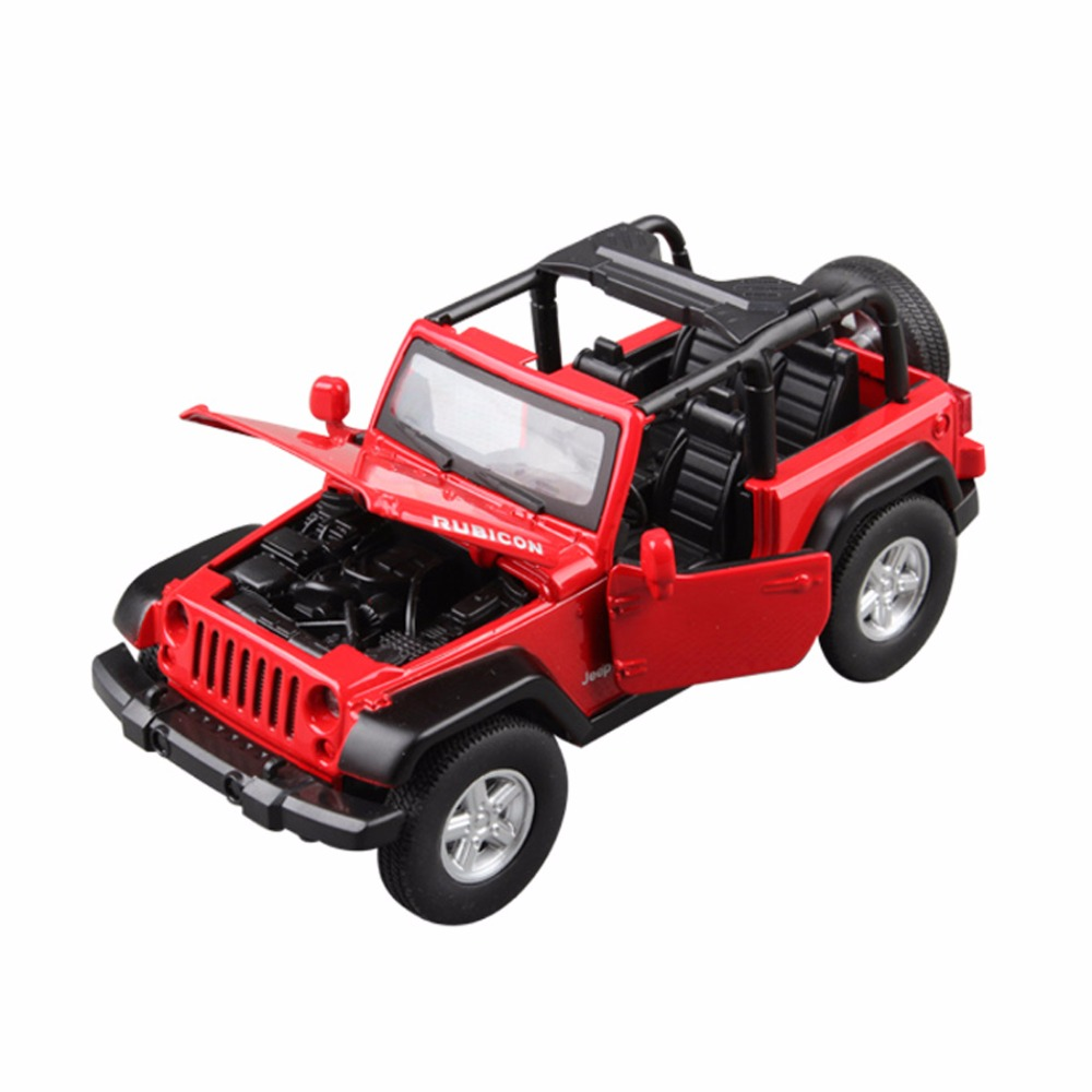 Kids Diecasr Car Model Pull Back Vehicle Toys Sound & Light for Toddlers Christmas Gift F-Jeep Mode NuoYa001 JEEP 13*5.5cm 1:32