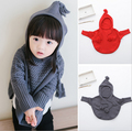2016 sweater Fashion autumn girls knitted Cloak cape hooded outerwear child clothes baby outerwear kids coat 2-8years