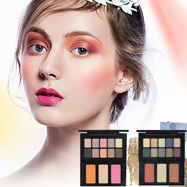 Pro Cosmetic Eye Shadow Dating Holiday Makeup Long-lasting Balm Nude Warm Colors Eyeshadow Palette With Brush